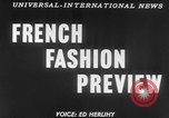 Image of French designed fashions of 1953 Paris France, 1953, second 3 stock footage video 65675041651