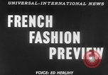 Image of French designed fashions of 1953 Paris France, 1953, second 4 stock footage video 65675041651