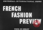 Image of French designed fashions of 1953 Paris France, 1953, second 5 stock footage video 65675041651