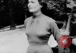 Image of French designed fashions of 1953 Paris France, 1953, second 38 stock footage video 65675041651