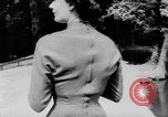 Image of French designed fashions of 1953 Paris France, 1953, second 39 stock footage video 65675041651