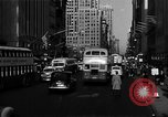 Image of crowded Fifth Avenue New York  New York City USA, 1946, second 10 stock footage video 65675041739