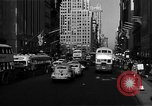 Image of crowded Fifth Avenue New York  New York City USA, 1946, second 21 stock footage video 65675041739