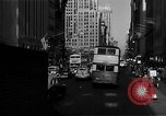 Image of crowded Fifth Avenue New York  New York City USA, 1946, second 27 stock footage video 65675041739