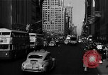 Image of crowded Fifth Avenue New York  New York City USA, 1946, second 39 stock footage video 65675041739