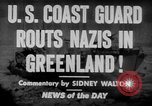 Image of United States Coast Guard Cutters on patrol off Greenland Greenland, 1944, second 2 stock footage video 65675041743