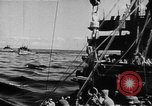 Image of United States Coast Guard transports carry amphibious forces Guadalcanal Solomon Islands, 1942, second 14 stock footage video 65675041744