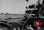 Image of United States Coast Guard transports carry amphibious forces Guadalcanal Solomon Islands, 1942, second 16 stock footage video 65675041744