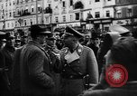 Image of Hitler welcomed during the Anschluss Linz Austria, 1938, second 10 stock footage video 65675041767