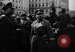 Image of Hitler welcomed during the Anschluss Linz Austria, 1938, second 15 stock footage video 65675041767