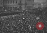 Image of Hitler welcomed during the Anschluss Linz Austria, 1938, second 40 stock footage video 65675041767