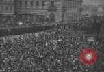 Image of Hitler welcomed during the Anschluss Linz Austria, 1938, second 41 stock footage video 65675041767