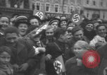 Image of Hitler welcomed during the Anschluss Linz Austria, 1938, second 43 stock footage video 65675041767
