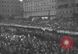 Image of Hitler welcomed during the Anschluss Linz Austria, 1938, second 48 stock footage video 65675041767