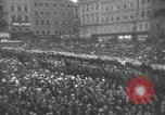 Image of Hitler welcomed during the Anschluss Linz Austria, 1938, second 49 stock footage video 65675041767