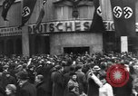 Image of Exuberant crowds cheer the Anschuss (Annexation of Austria by Germany) Vienna Austria, 1938, second 38 stock footage video 65675041768
