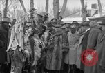 Image of Ferdinand Foch meets with Crow Native American Indians Montana United States USA, 1921, second 53 stock footage video 65675041803