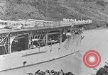 Image of The Aircraft Carriers USS Langley in Panama Canal and USS Saratoga bei Panama, 1925, second 7 stock footage video 65675041842
