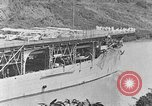 Image of The Aircraft Carriers USS Langley in Panama Canal and USS Saratoga bei Panama, 1925, second 8 stock footage video 65675041842