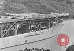 Image of The Aircraft Carriers USS Langley in Panama Canal and USS Saratoga bei Panama, 1925, second 9 stock footage video 65675041842