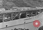 Image of The Aircraft Carriers USS Langley in Panama Canal and USS Saratoga bei Panama, 1925, second 13 stock footage video 65675041842