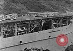 Image of The Aircraft Carriers USS Langley in Panama Canal and USS Saratoga bei Panama, 1925, second 15 stock footage video 65675041842