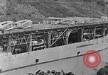 Image of The Aircraft Carriers USS Langley in Panama Canal and USS Saratoga bei Panama, 1925, second 16 stock footage video 65675041842