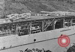 Image of The Aircraft Carriers USS Langley in Panama Canal and USS Saratoga bei Panama, 1925, second 18 stock footage video 65675041842