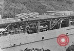Image of The Aircraft Carriers USS Langley in Panama Canal and USS Saratoga bei Panama, 1925, second 20 stock footage video 65675041842