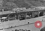 Image of The Aircraft Carriers USS Langley in Panama Canal and USS Saratoga bei Panama, 1925, second 21 stock footage video 65675041842