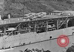 Image of The Aircraft Carriers USS Langley in Panama Canal and USS Saratoga bei Panama, 1925, second 22 stock footage video 65675041842