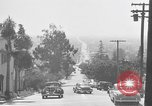 Image of La Cienega Blvd, City Hall, and Hollywood Memorial Park Cemetery Los Angeles California USA, 1950, second 26 stock footage video 65675041957