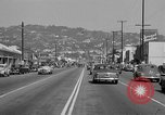 Image of La Cienega Blvd, City Hall, and Hollywood Memorial Park Cemetery Los Angeles California USA, 1950, second 34 stock footage video 65675041957