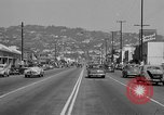 Image of La Cienega Blvd, City Hall, and Hollywood Memorial Park Cemetery Los Angeles California USA, 1950, second 35 stock footage video 65675041957