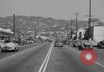Image of La Cienega Blvd, City Hall, and Hollywood Memorial Park Cemetery Los Angeles California USA, 1950, second 36 stock footage video 65675041957