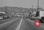 Image of La Cienega Blvd, City Hall, and Hollywood Memorial Park Cemetery Los Angeles California USA, 1950, second 37 stock footage video 65675041957