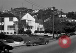 Image of La Cienega Blvd, City Hall, and Hollywood Memorial Park Cemetery Los Angeles California USA, 1950, second 46 stock footage video 65675041957