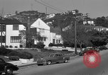 Image of La Cienega Blvd, City Hall, and Hollywood Memorial Park Cemetery Los Angeles California USA, 1950, second 49 stock footage video 65675041957