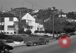 Image of La Cienega Blvd, City Hall, and Hollywood Memorial Park Cemetery Los Angeles California USA, 1950, second 50 stock footage video 65675041957