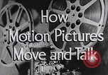 Image of how motion picture projectors, cameras, and optical sound works United States USA, 1939, second 13 stock footage video 65675041965