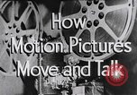 Image of how motion picture projectors, cameras, and optical sound works United States USA, 1939, second 14 stock footage video 65675041965