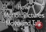 Image of how motion picture projectors, cameras, and optical sound works United States USA, 1939, second 15 stock footage video 65675041965