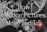 Image of how motion picture projectors, cameras, and optical sound works United States USA, 1939, second 16 stock footage video 65675041965