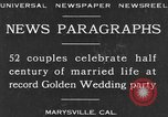 Image of Golden Wedding Party Marysville California USA, 1930, second 1 stock footage video 65675041969
