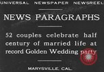 Image of Golden Wedding Party Marysville California USA, 1930, second 2 stock footage video 65675041969