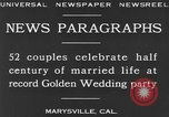 Image of Golden Wedding Party Marysville California USA, 1930, second 7 stock footage video 65675041969