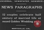 Image of Golden Wedding Party Marysville California USA, 1930, second 8 stock footage video 65675041969