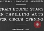 Image of Zebras and horses in circus Sarasota Florida USA, 1930, second 3 stock footage video 65675041973