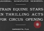 Image of Zebras and horses in circus Sarasota Florida USA, 1930, second 6 stock footage video 65675041973