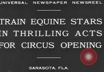 Image of Zebras and horses in circus Sarasota Florida USA, 1930, second 8 stock footage video 65675041973